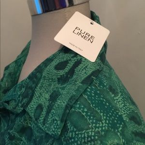 Gorgeous green Italian linen dress. Size large